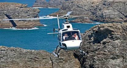 Baptême en hélicoptère - Golfe Morbihan et de Belle-Île