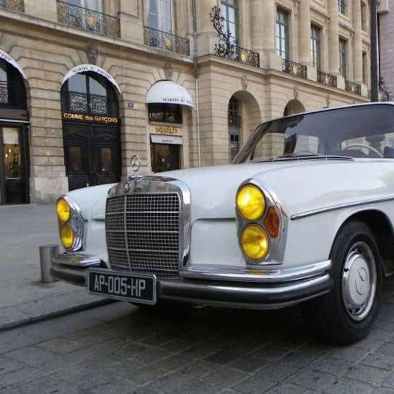 Balade Grand Paris en Mercedes 280 SE