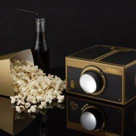 Projecteur pour Smartphone Noir et Or