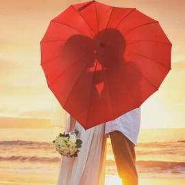 Parapluie Coeur Rouge Personnalisable