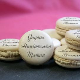 Macarons personnalisés Message