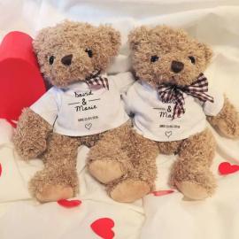 Ours en peluche personnalisable - Jour de rencontre - Cadeau Anniversaire Couple