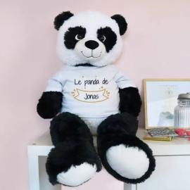 Panda Géant Personnalisable - Prénom