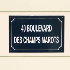 Plaque de Rue Emaillée pour message