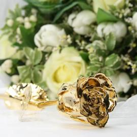 Grande Rose en Or et Certificat Personnalisé