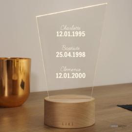 Lampe Lixi Dates Importantes à Personnaliser