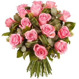 BOUQUET DE ROSES ROSES - CANDEUR