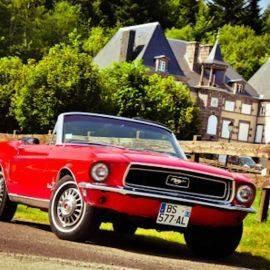Prestige & Charme :  Du soir au matin,  balade au volant d'une légende (Mustang, Triumph TR4 ou MGA)+ Hotel + Diner